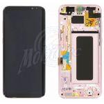 Abbildung zeigt Original Galaxy S8 Plus (SM-G955F) Frontschale mit Display + Touchscreen rose pink