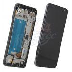 Abbildung zeigt Display + Touchscreen Einheit mit Rahmen blau