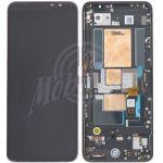 Abbildung zeigt Original ROG Phone 5 (ZS673KS) Display + Touchscreen Einheit mit Rahmen schwarz